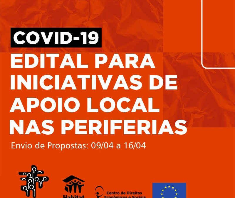 Edital para iniciativas de apoio local nas periferias